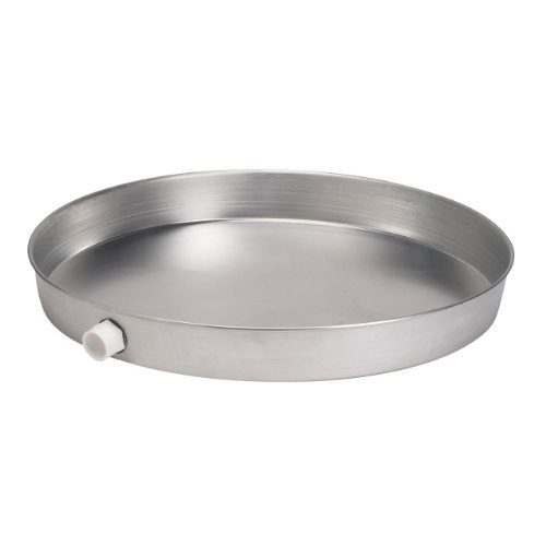 Oatey 34081 Aluminum Pan with 1-1/2-Inch PVC Fitting, Pan Pre-Drilled Hole, 20-Inch