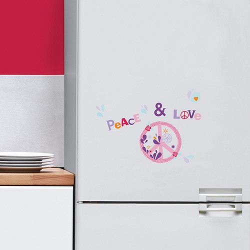 NOUVELLES IMAGES Multi-Color Peace and Love Mini Wall Decals