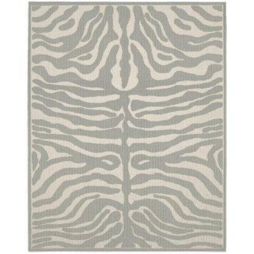 Garland Rug Safari Silver/Ivory 8 ft. x 10 ft. Area Rug