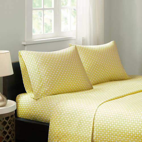 Home Essence Apartment Print Microfiber Sheet Set