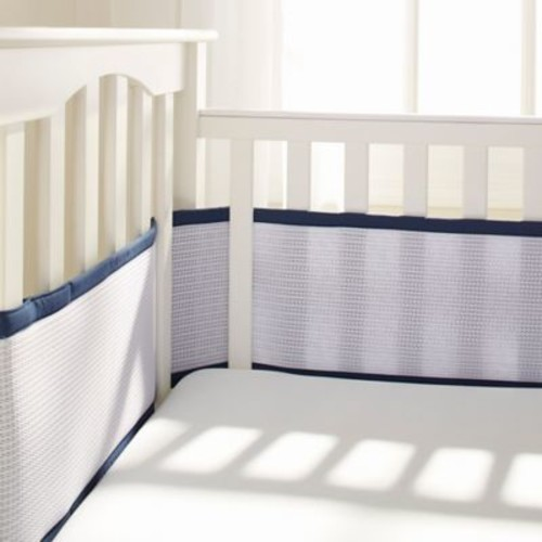 Breathable Baby Deluxe Breathable Mesh Crib Liner in Navy