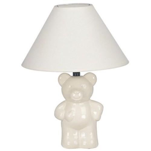 Ore International 611BL Ceramic Teddy Bear Lamp - Royal Blue