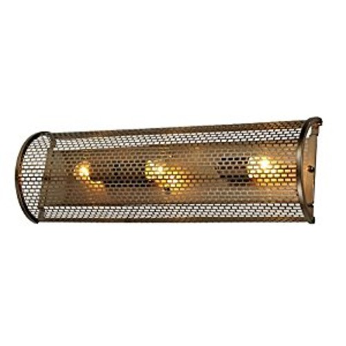 Varaluz Lit Mesh Test 3 Light Wall Lighting , New Bronze With Recycled Steel Mesh Shade