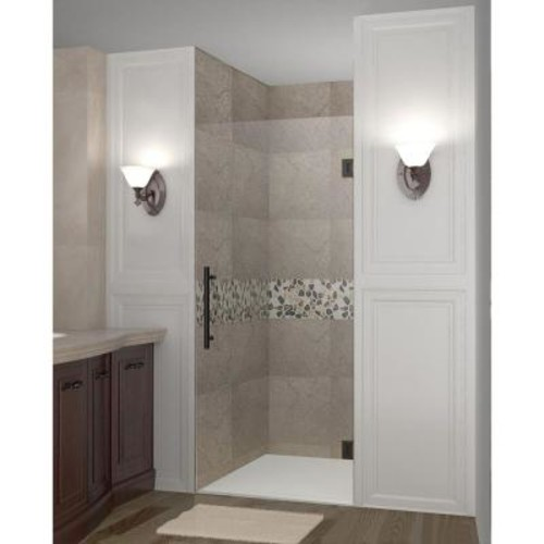 Aston Cascadia 29 in. x 72 in. Completely Frameless Hinged Shower Door in Oil Rubbed Bronze