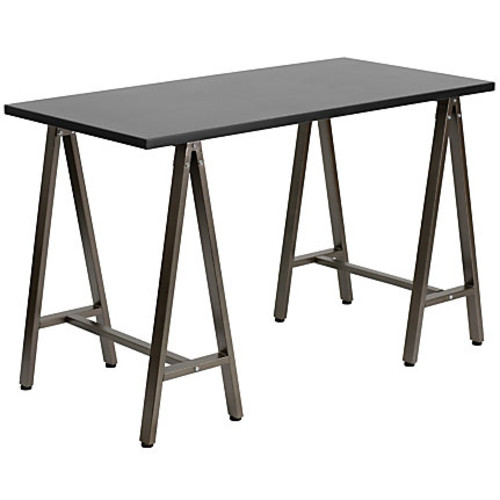 Flash Furniture Contemporary Laminate Computer Desk, Black/Brown