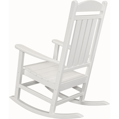 Hanover Outdoor HVR100WH White Wood All-weather Pineapple Cay Porch Rocker