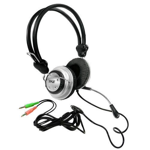 Pyle Home PHPMC2 Stereo PC Multimedia Headset/Microphone