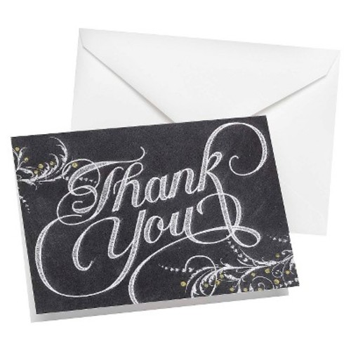 Hortense B. Hewitt 50 Count Whimsical Chalkboard Thank You Cards: Home & Kitchen [Chalkboard]