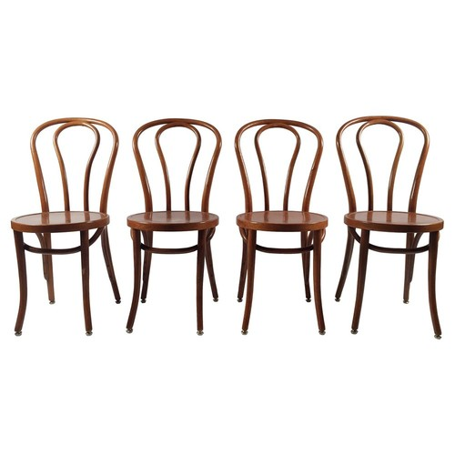 Bentwood Caf Chairs, S/4