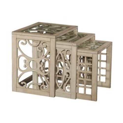 Powell Juliana Brown Woof Nesting End Table
