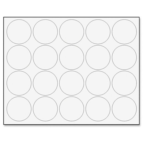 MasterVision Interchangeable Magnetic Character, Circles, White, 20/Pack