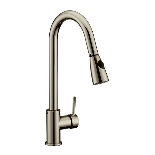 Design House Eastport Single-Handle Pull-Down Sprayer Kitchen Faucet in Satin Nickel