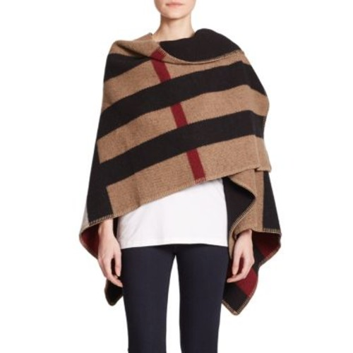 BURBERRY Prorsum Mega Check Wool & Cashmere Cape