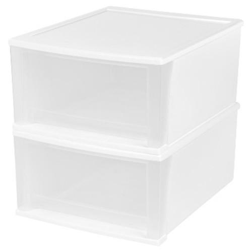 IRIS 32 Quart Stacking Drawer - 2 Pack