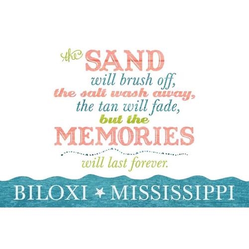 Biloxi, MS Beach Memories Last Forever LP Artwork (Art Print - Multiple Sizes)