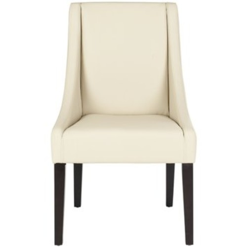 Safavieh Britannia Side Chair (Set of 2) [Upholstery : Bicast Leather - Cream]