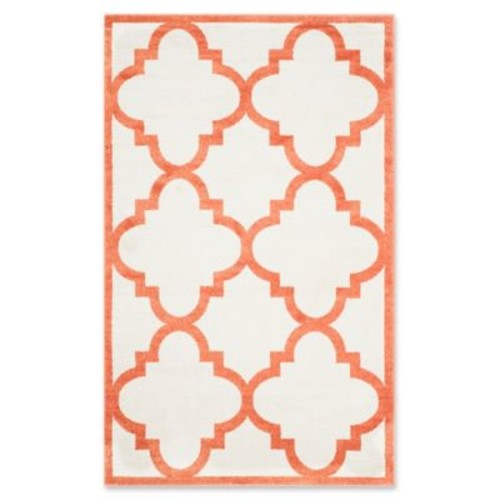 Safavieh Amherst Geo 6-Foot x 9-Foot Indoor/Outdoor Rug in Beige/Orange