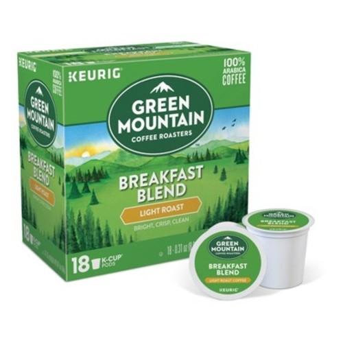 Green Mountain Coffee Breakfast Blend Keurig K-Cup pods 18ct