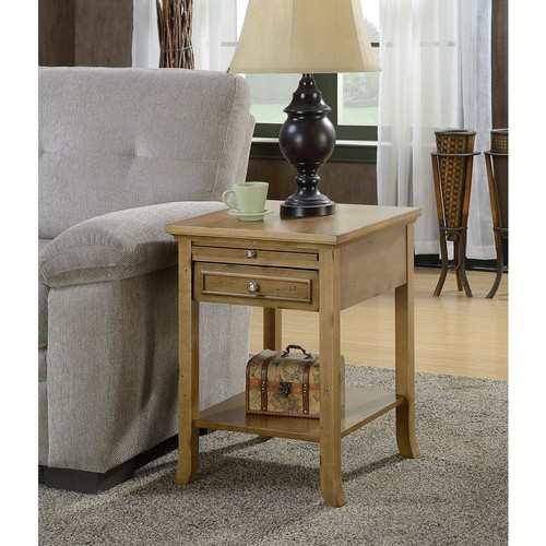 Convenience Concepts American Heritage Logan Antique Walnut End Table
