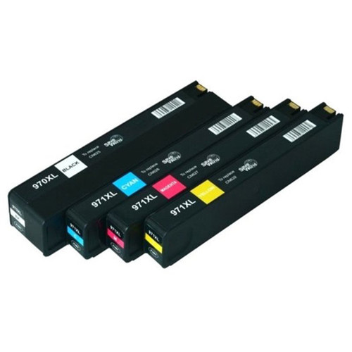 TCI Re-manufactured Replacement Black/ Cyan/ Magenta/ Yellow Ink Cartridges for HP 970XL/ 971XL (Set of 4)