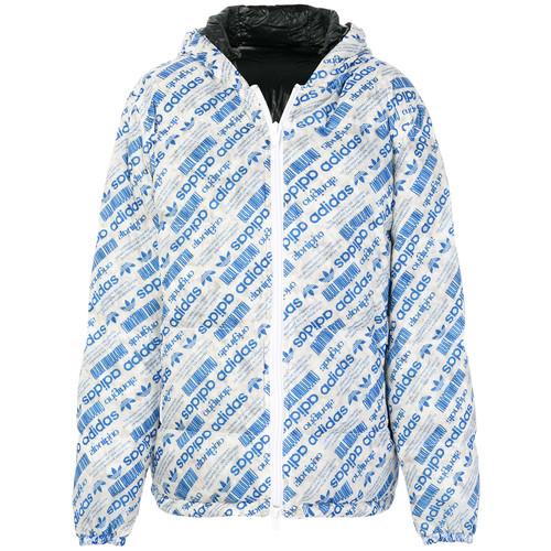 reversible logo print padded jacket