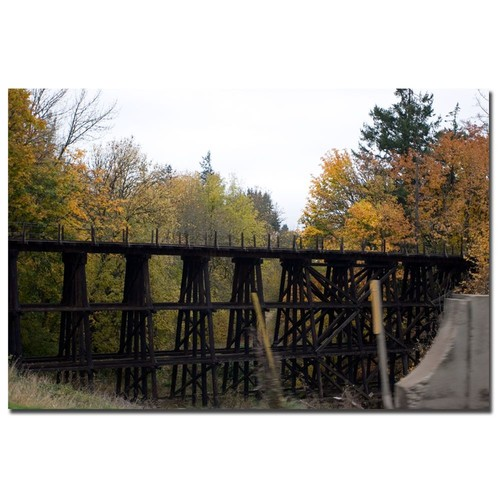 Trademark Global Yale Gurney 'Country Bridge' Canvas Art [Overall Dimensions : 18x24]