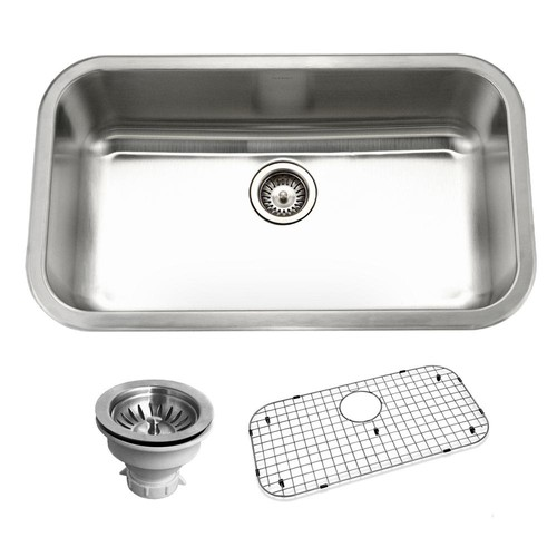 HOUZER Belleo Series Drop-In 32 in. Stainless Steel Single Bowl Kitchen Sink
