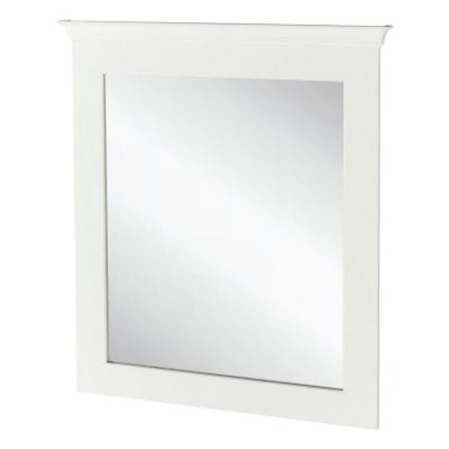 Home Decorators Collection Creeley 30 in. x 34 in. Framed Bath Vanity Wall Mirror in Classic White