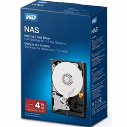 WD Red 4TB 3.5 SATA NAS Internal Hard Drive Retail Kit : WDBMMA0040HNC-NRSN