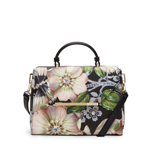 TED BAKER Gem Gardens Crosshatch Small Satchel