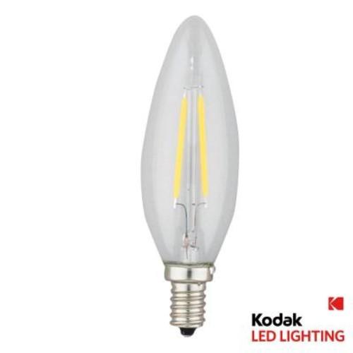 Kodak 25W Equivalent Warm White E12 Candle Torpedo Dimmable LED Light Bulb
