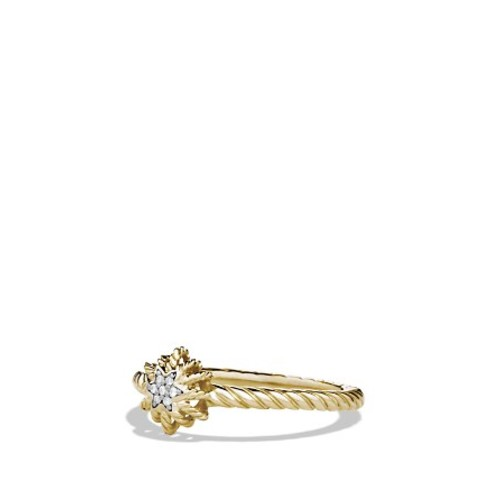 Small Starburst Ring with Diamonds in G