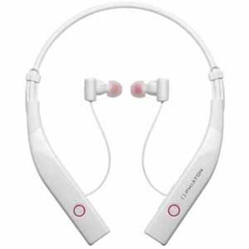 Phiaton Wireless Bluetooth 4.0 & Noise Cancelling Earphones with Microphone - White