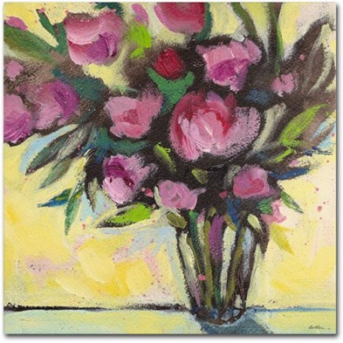 Trademark Fine Art 'Pink Floral Bouquet' Canvas Art by Sheila Golden
