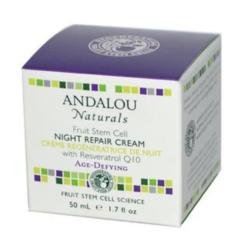 Andalou Naturals, Night Repair Cream with Resveratrol Q10, Age-Defying, 1.7 fl oz (50 ml)
