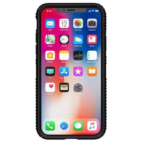 Speck Presidio Grip Case for iPhone X - Black/Black