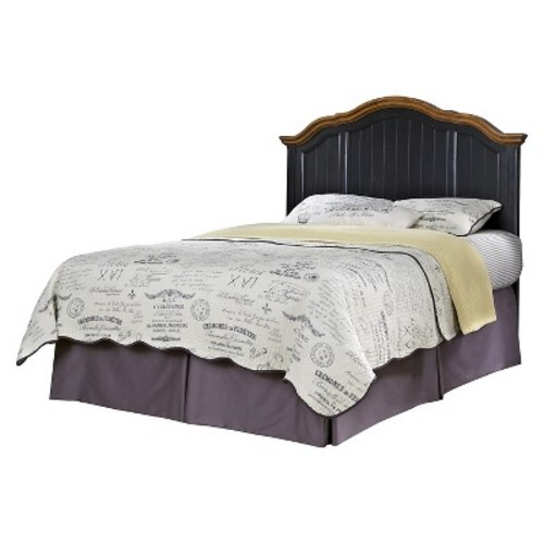 The French Countryside Oak and Rubbed Headboard Black (Full/Queen) - Home Styles