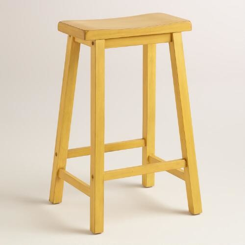 Yellow Schoolhouse Barstool