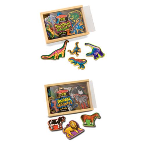 Melissa & Doug Magnetic Animals & Dinosaurs Bundle
