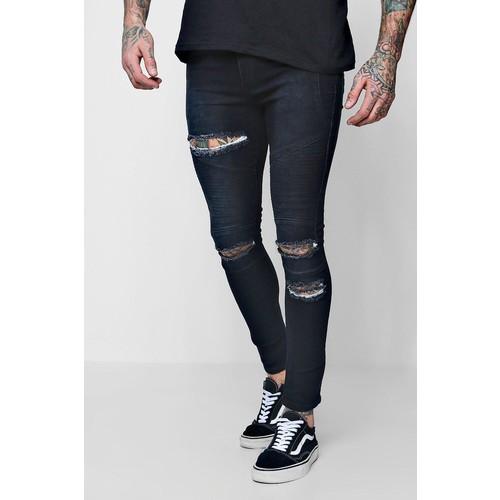 Balmain - Skinny-Fit Denim Biker Jeans