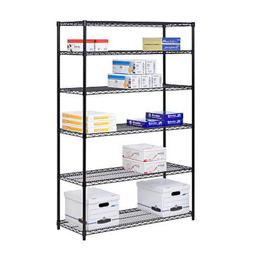Honey-Can-Do NSF Steel Adjustable Storage Shelving Unit, Black