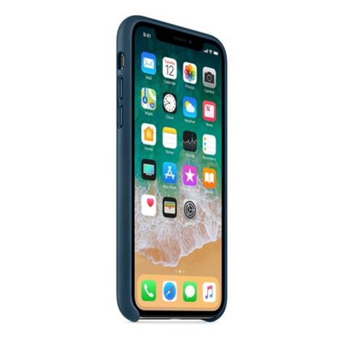 Apple Leather Case for iPhone X - Cosmos Blue