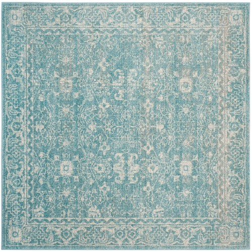 Safavieh Evoke Light Blue/Ivory 5 ft. 1 in. x 5 ft. 1 in. Square Area Rug