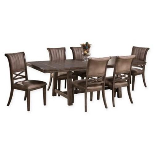 Hillsdale Legacy Wood 7-Piece Dining Set in Dark Grey