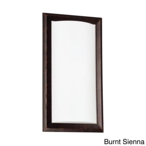 Sea Gull Lighting Plate 1-Light GU24 Burnt Sienna Sconce
