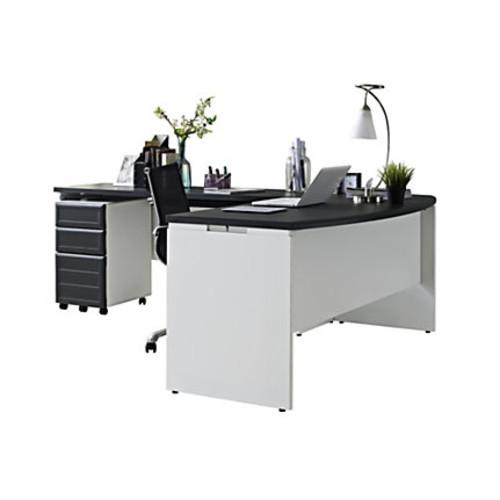 Ameriwood Altra Pursuit 3-Piece Office Set, Gray/White