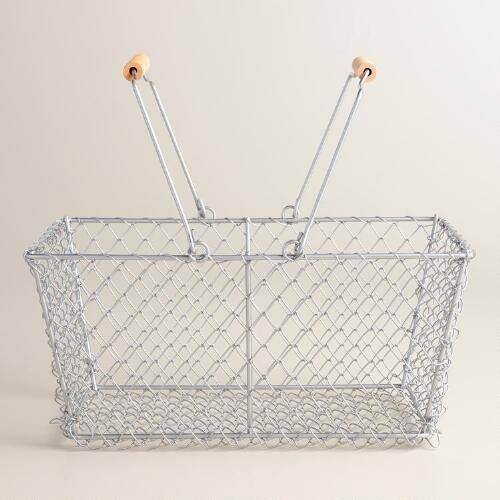 Rectangular Galvanized Wire Basket