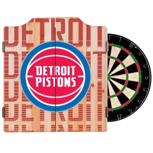 NBA City Dart Cabinet Set with Darts and Bristle Dart Board
