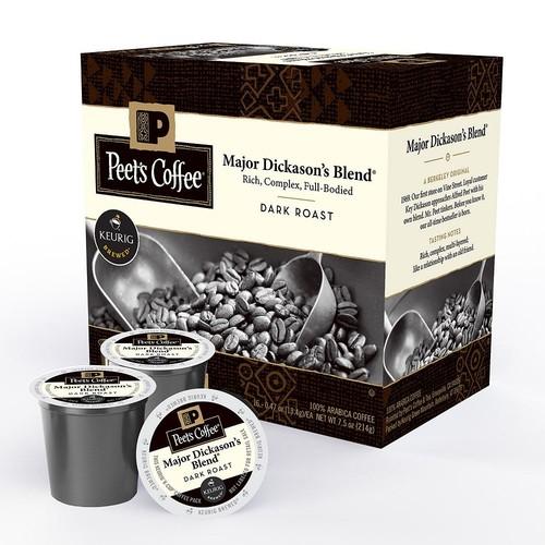 Keurig 16-Count Peet's Coffee & Tea Major Dickason's Blend Coffee K-Cup Pod