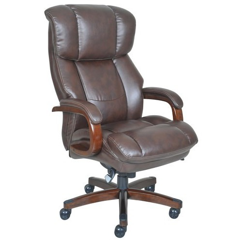 La-Z Boy - Big & Tall Bonded Leather Executive Chair - Biscuit Brown